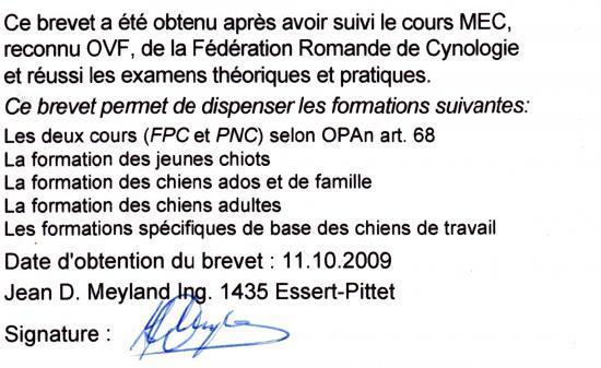 Brevet MEC